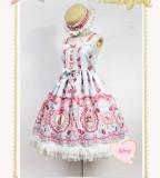 Strawberry Bunny~ Lolita Printed High Waist JSK Dress