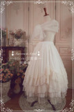 Gold Silk Chiffon Elegant Lolita Skirt/Petticoat Ready Made