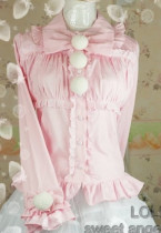 (Replica)Dream of Lolita Sweet Princess Blouse Pink XS- Free Shipping