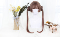 Dango Lolita Wig with 2 Buns Ponytails