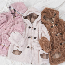 Sweet Dreamer Vintage ~Lucky Duffy Cookies~ Imitation Lamb Fleece Coat