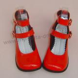 High Platform Black Double Straps Lolita Shoes