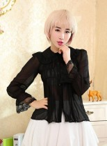Dream of Lolita Peter Pan Collar Chiffon Long Sleeves Lolita Blouse