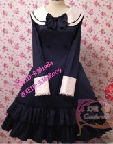 Round Collar Bow College Lolita Dress