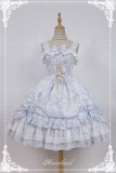 Neverland Lolita -Antique Clock- Chiffon Tailored Lolita Printed JSK