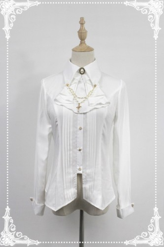 Ode to The Night~ Sharp Collar Long Sleeves Lolita Blouse