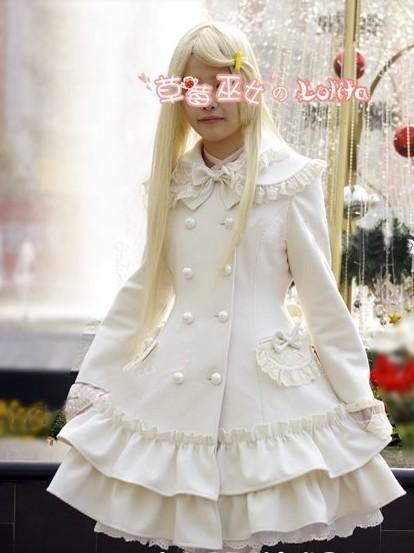 Gorgeous Floral Design A-line Lolita Long Coat