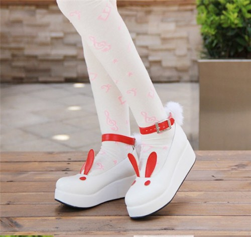 Angelic Imprint- Sweet High Platform Bunny Ears Lolita Shoes