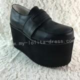 Sweet Matte Black Lolita Shoes with Platform