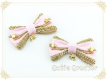 Cutie Creator ~Gold Brownie~ Star Lolita Hairclip- 12 Colors
