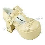 Sweet Cream T-straps Lolita Shoes