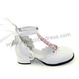 White Classic Lolita Sandals