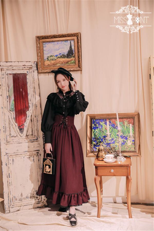 Alpine Maiden~ Vintage Lolita High Waist Skirt -Pre-order