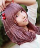 50cm Purple Red Bobo Lolita Wig