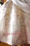 Surface Spell Gothic White Night Draped Chiffon OP