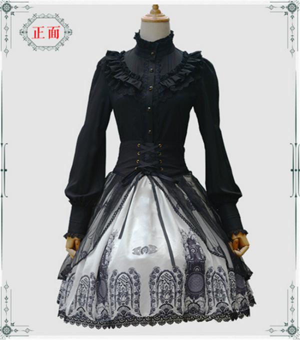 Vingtage Cross & church Skirt White X-XL&Black S-M -IN STOCK