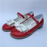 Pretty Bow Flower Flat Heel Lolita Shoes
