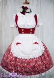Summer Cherries Strawberry Lolita JSK 3 Colors + Apron