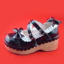 Black Shiny Lolita Shoes