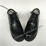 Black Matte Shoes with High Platform