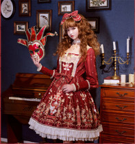 Hamster Princess Royal Circus~ Classic Lolita OP + Fake Collar -Ready Made