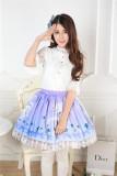 Blue-violet Exclusive Beast Printed Lolita Pleated Skirt