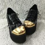 Matte Black with Gold Lolita High Platofrm