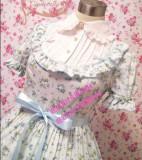 Light Blue Floral Lolita One Piece Dress