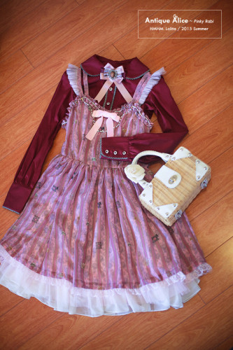 HMHM Lolita ~Antique Alice~ Lolita Jumper Dress