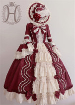 Romantic Salon~ Elegant Lolita OP Dress-  Ready Made