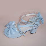 Skyblue Double Bows Lolita Sandals