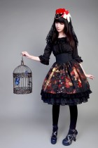 Neverland Lolita ~Maiden in the Garden~ High Waist Fishbone Skirt