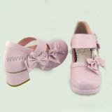 Side Bows Wide Straps Lolita Shoes