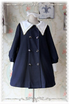 Infanta College School Style Sharp Collar Lolita Coat