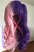 Two Colors Pink Purple Wigs for Lolita