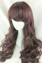 Big Curves Brown Purple 60cm Lolita Wig