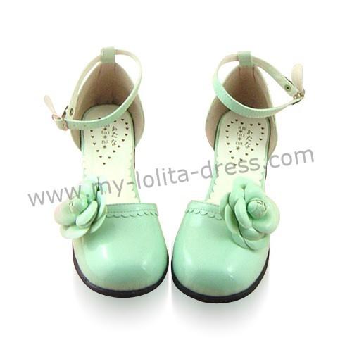 Green Flowers Lolita Sandals