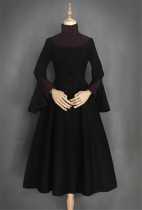 Sister Flemont Vintage Classic Dress Slim Design - Black&Red Size M In Stock