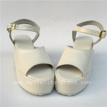 Charming White Matte Lolita High Platform Sandals -  Three Kinds Of Styles