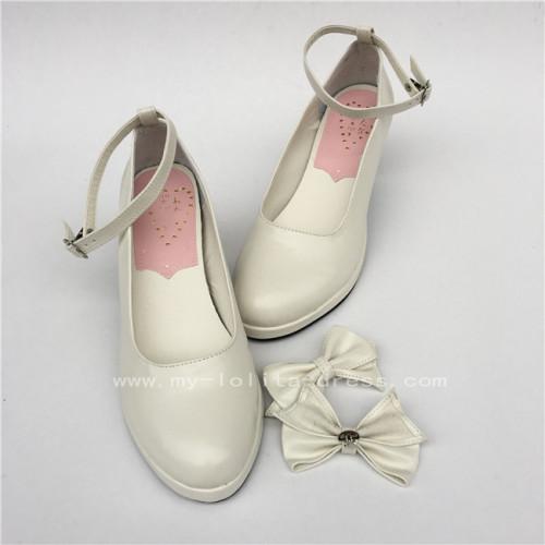Matte Blue High Platform Lolita Heels Shoes