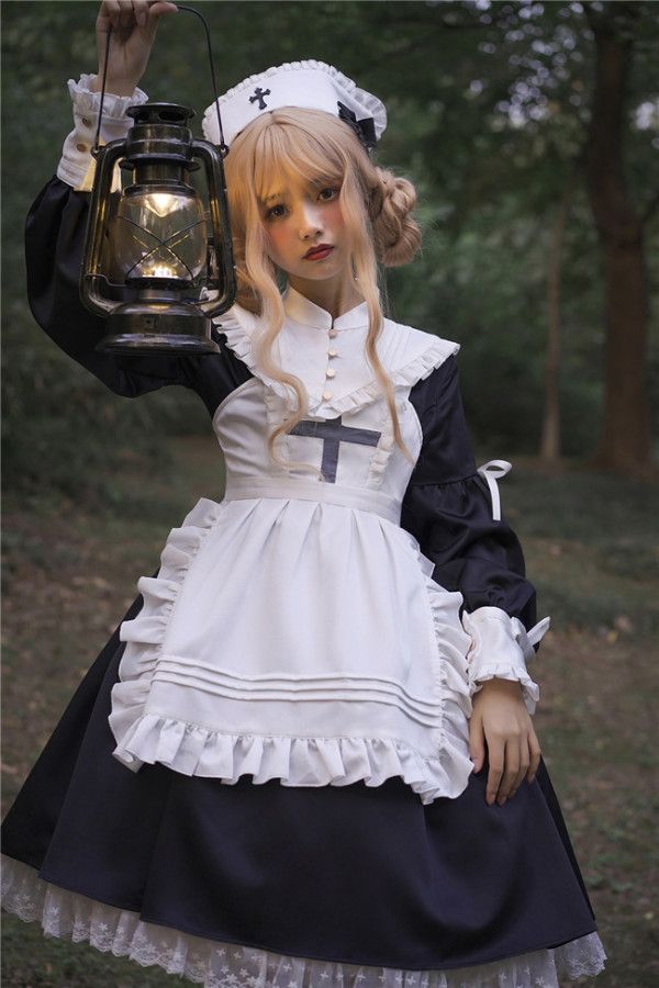 Luna Planetarium ~Lighting Angel~ Long Sleeves Lolita OP -Ready Made