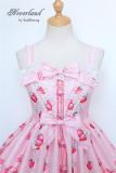 Strawberry Bunny~ Lolita High Waist JSK Dress
