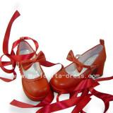 Beautiful Sweet Remilia Scarlet Shoes With Bandage