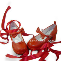 Beautiful Sweet Remilia Scarlet Shoes With Bandage