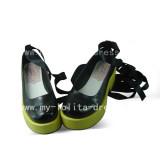 Black Green Maria Holic Shoes