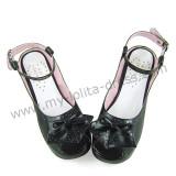 Black Bows Lolita Sandals