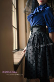 Sweet Middle Sleeves Navy Blue Lolita Blouse