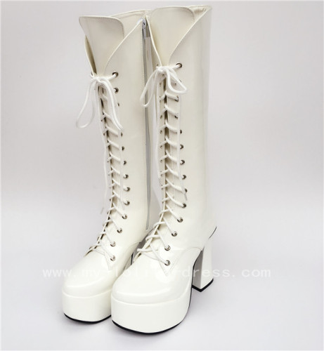 Classic High Shaft Above Knee Lolita Boots