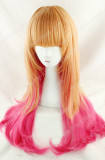 Orange Pink Double Tone 70cm Lolita Wig