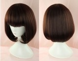 Girl's Sweet Gold Brown Bobo Lolita Wig